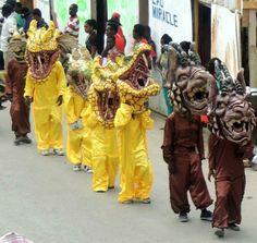 Carnaval in Jacmel, Haiti 2014