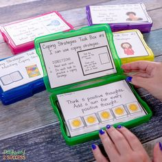 Unique Ways to Teach Coping Strategies Unique Ways to Teach Coping Strategies,Schulalltag Use these coping strategies task boxes to practice social emotional learning skills in a hands-on and interactive way! Coping Skills List, Coping Skills Activities, Counseling Activities, Therapy Activities, School Counseling, Learning Skills, Social Activities, Elementary Counseling, Autism Activities