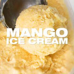 Ice Cream Flavors, Ice Cream Recipes, Homemade Mango Ice Cream, Amazing Food Videos, Twisted Recipes, Indian Dessert Recipes, Sweet Recipes, Cooking Recipes, Yummy Food