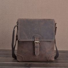 $48.76 First layer of cowhide handmade vintage crazy horse leather man bag male casual messenger bag genuine leather bag