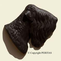 Black Russian Tchiorny Terrier nero russo dog PERITAS wall sculpture statue art
