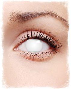 Shocking White Kontaktlinsen | #Kontaktlinsen #contacts #farbigeKontaktlinsen #coloredcontacts #halloweenmakeup