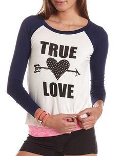 True Love Baseball Tee: Charlotte Russe