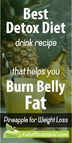 Weight Loss Smoothie Recipes, Weight Loss Drinks, Healthy Weight Loss, Best Detox Diet, Detox Diet Drinks, Healthy Drinks, Healthy Food, Ginger Detox Water, Pineapple Weight Loss