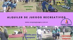 ALQUILER DE JUEGOS PARA EVENTOS Y JORNADAS RECREATIVAS - GRAN VARIEDAD - Visitá nuestra página wwwcarpasyjuegos.com.ar ALQUILER DE JUEGOS > RECREATIVOS - #Juegos #Evento #AlquilerDeJuegos #JuegosRecreativos Transportation, Games, Events