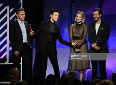 Ben Hardy, Rami Malek, Lucy Boynton, and Joe Mazzello accept award for Best Ensemble for 'Bohemian Rhapsody' onstage at AARP The Magazine's Annual Movies for Grownups Awards at the Beverly. Get premium, high resolution news photos at Getty Images Lucy Boynton, Ben Hardy, Rami Malek, The Beverly, Celebrity Crush, Growing Up, Crushes, Icons, Queen