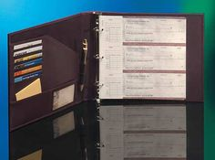 Business Checks Unlimited Burgundy Organizer Binder 3 Ring 388510 Binders Covers