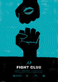 ♥ Minimalist Movie Poster: Fight Club by Dee Choi- kinda like my old illustration of the fists. get back to illlustratey lines heavy line images?