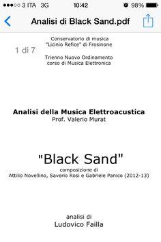 Black Sand:Analisi di Ludovico Failla