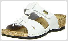 Damen Pantoletten weiß, Größe:36;Farbe:Weiß Vista