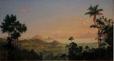 nicola antonio facchinetti (1824-1900) - vista de sta. rosa niterói, rio de janeiro (vista from st. rosa, niteroi, rio de janeiro), oil on wood.