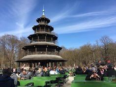 Chinese tower beer garden in Munich was beautiful today #travel #photography #nature #photo #vacation #photooftheday #adventure #landscape
