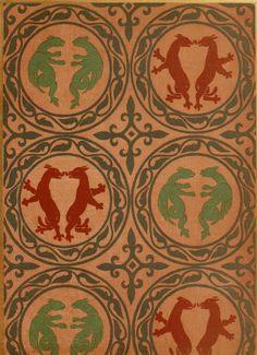 Textile Pattern Of Dragons From A Public Domain Book Kunst Des Zeugdrucks Vom