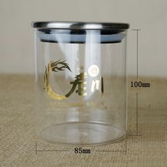 Dia95mm Glass Candy Jar With Metal Lid Transparent Candy Jar - Buy ...