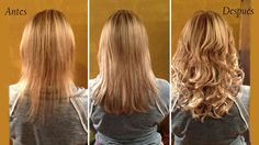Antes Y Despues Extensiones De Cabello Natural Mayonnaise For Hair Hair Extensions Before And After Hair Extensions For Short Hair