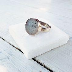 White Druzy Ring Druzy Greyed Agate Sterling by SunSanJewelry Druzy Jewelry, Sparkly Jewelry, Handmade Silver Jewellery, Sterling Silver Jewelry, Agate Ring, Druzy Ring, Greek Jewelry, White Agate, Silver Lining