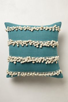 #anthrofave Anthropologie TASSEL TRACE PILLOW wow, I knew this would look amazing in turquoise or teal! I want this!