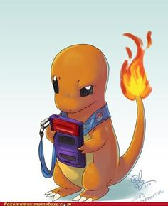 Charmander Pokemon he is probably wondering why you even have the ability to choose any other starter