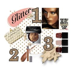 """""""Glitter baby"""" by cschorr-1 on Polyvore featuring beauty, Santi, Burberry, Bobbi Brown Cosmetics, VMV Hypoallergenics and Nails Inc."""