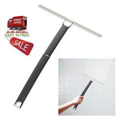 Black Squeegee Polished Nickel Extendable Tool Cleaning Water Bathroom  Showeru2026