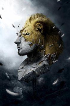 Discover how Martin Grohs used Photoshop to paint this Zodiac-inspired artwork Hermann Hesse, Inspiration Art, Art Graphique, Creative Art, Lions, Fantasy Art, Digital Art, Lion Sculpture, Illustration Art