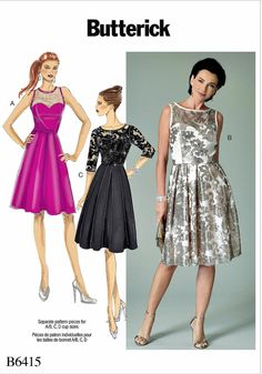 Ladies Evening Dress Pattern Misses Special Ocassion by blue510