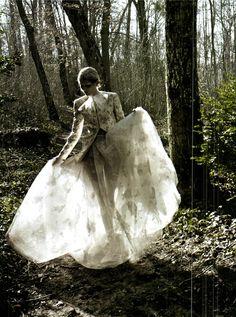 Marie Piovesan, Valentino Haute Couture, Vogue Italia March 2012. By Deborah Turbeville