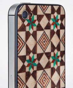 Taracea wood backs for IPhone - SABIKA FOREST