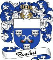 Bouchet Coat of Arms  Bouchet Family Crest   VIEW OUR FRENCH COAT OF ARMS / FRENCH FAMILY CREST PRODUCTS HERE