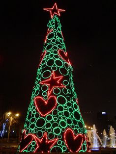Christmas tree, Madrid, Spain