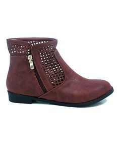 Another great find on #zulily! Red Perforated Foxter Boot #zulilyfinds
