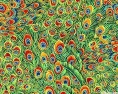 Peacocks - Field Of Feathers - Bamboo/Gold fabric Peacock Fabric, Gold Fabric, Peacock Feathers, Textile Patterns, Print Patterns, Touch Of Gold, Art Clipart, Paint Shop, Surreal Art