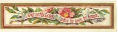 ATTRACTIVE LONG VICTORIAN CHRISTMAS GREETINGS CARD WITH RELIGIOUS TEXT