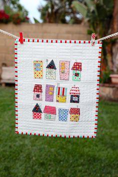 House & Jam Jar mini quilts