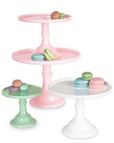 Milk-Glass Cake Plates - Horchow