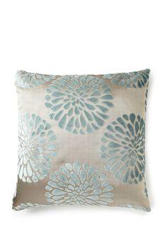 Petals cut velvet cushion- Duck egg - BHS