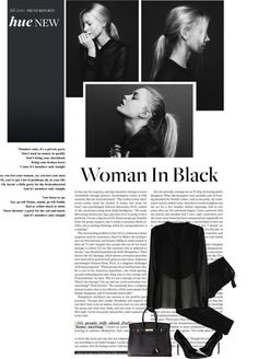 """Woman in black"" by jelena-stanojevic ❤ liked on Polyvore"