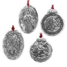 4PC Jim Shore Ornament Set