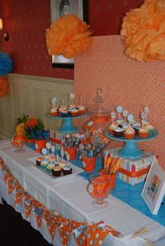 Love The Blue And Orange! And Since My Shower Will Be On My Anniversary And  That Was Our Wedding Colors, How Perfect!!