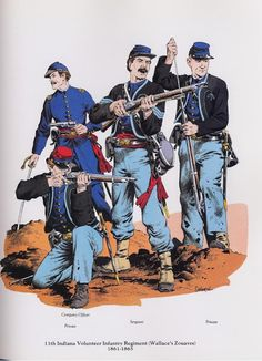 PLATES- CMH: 11th Indiana Volunteer Infantry Regiment (Wallace's Zouaves), 1861-1865, by John P. Severin.