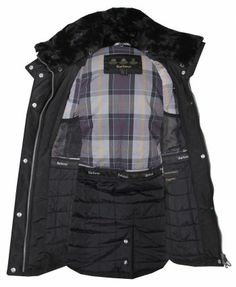 Barbour Womens Black Outlaw Weather Proof Belted Jacket