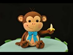 How to make a Cheeky Monkey cake topper - YouTube