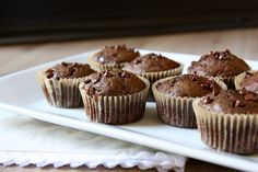 Chocolate Zucchini Banana Muffins • Good Thyme Kitchen
