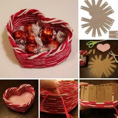 Awesome Valentine's Day heart shape basket tutorial