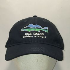 Item: Nice pre-owned CCA Texas Golden Triangle Baseball Cap Fishing Hat that is clean and shows normal wear. Fishing Hats For Men, Fishing Gifts, Cool Dad Hats, Fisherman Gifts, Dad Caps, Mens Caps, Snapback Hats, Gifts For Dad, Baseball Cap