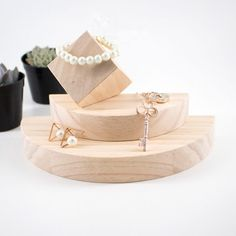 ring display holder on sale at reasonable prices, buy Lot of 2 Square or Hexagonal Wood Ring Display Holder Ring Display Stand Wood Jewelry Holder from mobile site on Aliexpress Now! Jewelry Dish, Jewellery Storage, Jewelry Organization, Jewellery Display, Necklace Holder, Jewelry Holder, Jewelry Box, Silver Jewelry, Wooden Jewelry Display