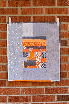 Orange + Gray Improv Mini by Jeni Baker, via Flickr