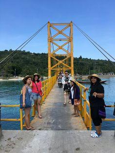 Walk through the bridge with them