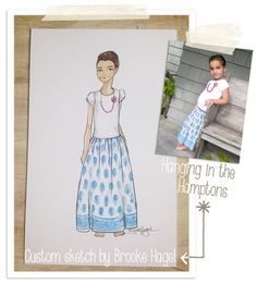 She's now a sketch! Kid Fashion Illustrations {Sadie Yanks} by Brooke Hagel
