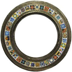 A capital of tin mirror frame production is San Miguel de Allende. Located in central Mexico this Spanish style town beauty is reflected in its  art and architecture. #round #tin #mirror #myrustica #rusticahouse